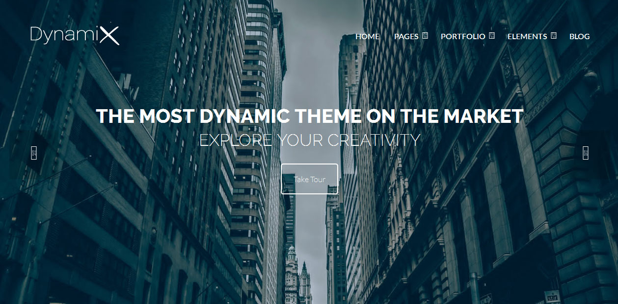 DynamiX - Fullscreen WordPress Themes