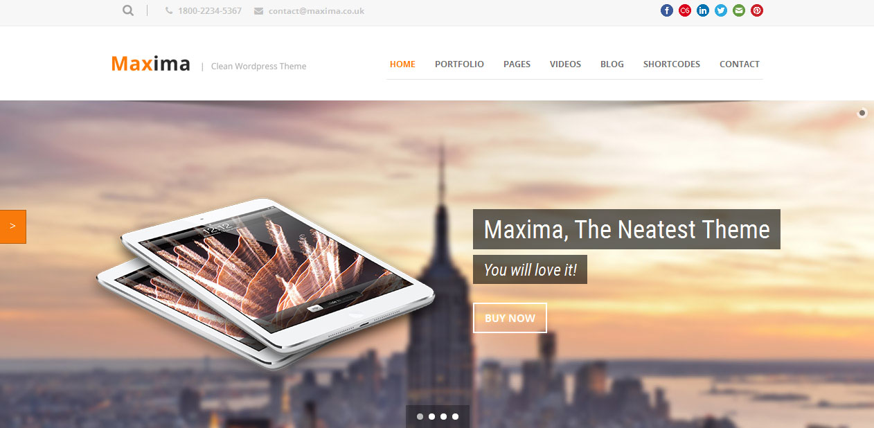 Maxima - Retina Display Ready WordPress Themes