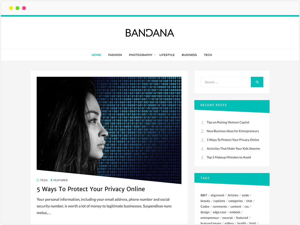 bandana-lite-wordpress-theme-showcase
