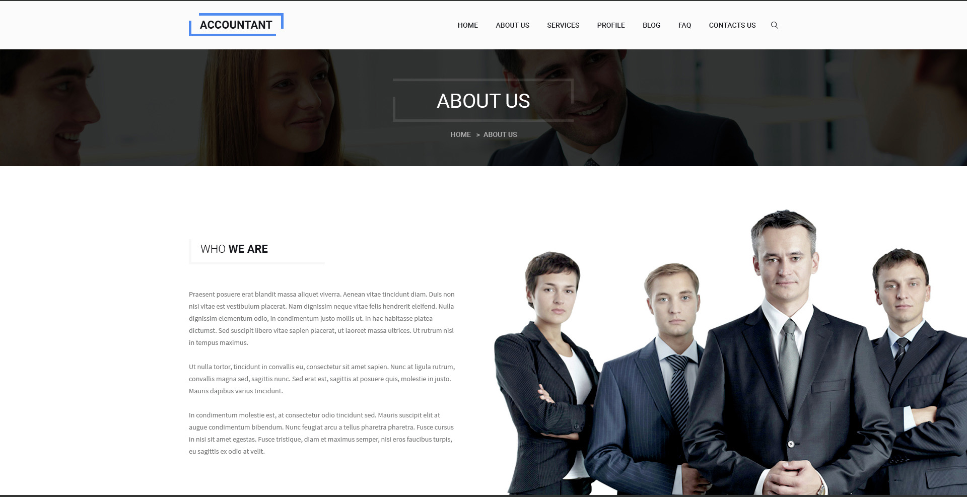 Accountant - Bootstrap PSD Template - psd website templates