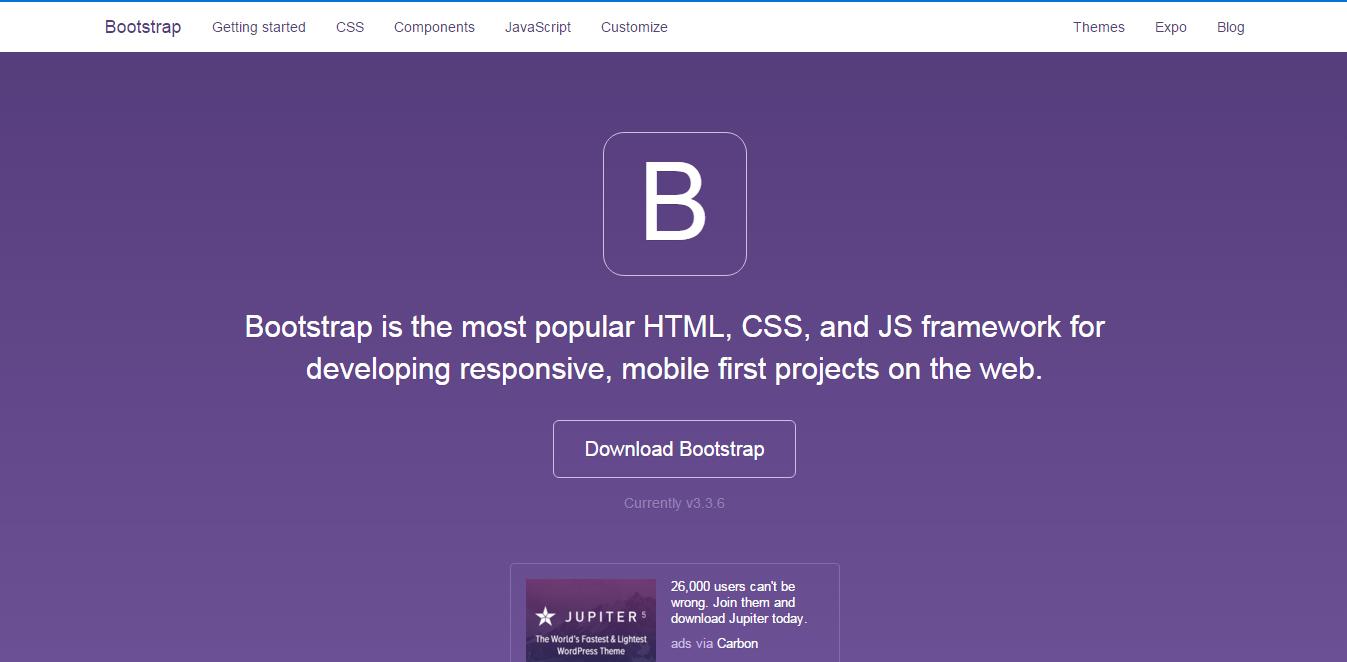 Bootstrap - best wordpress frameworks