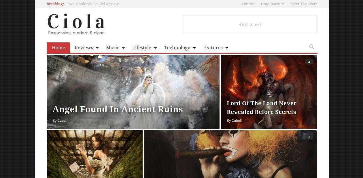 Ciola - Grid Style WordPress Themes