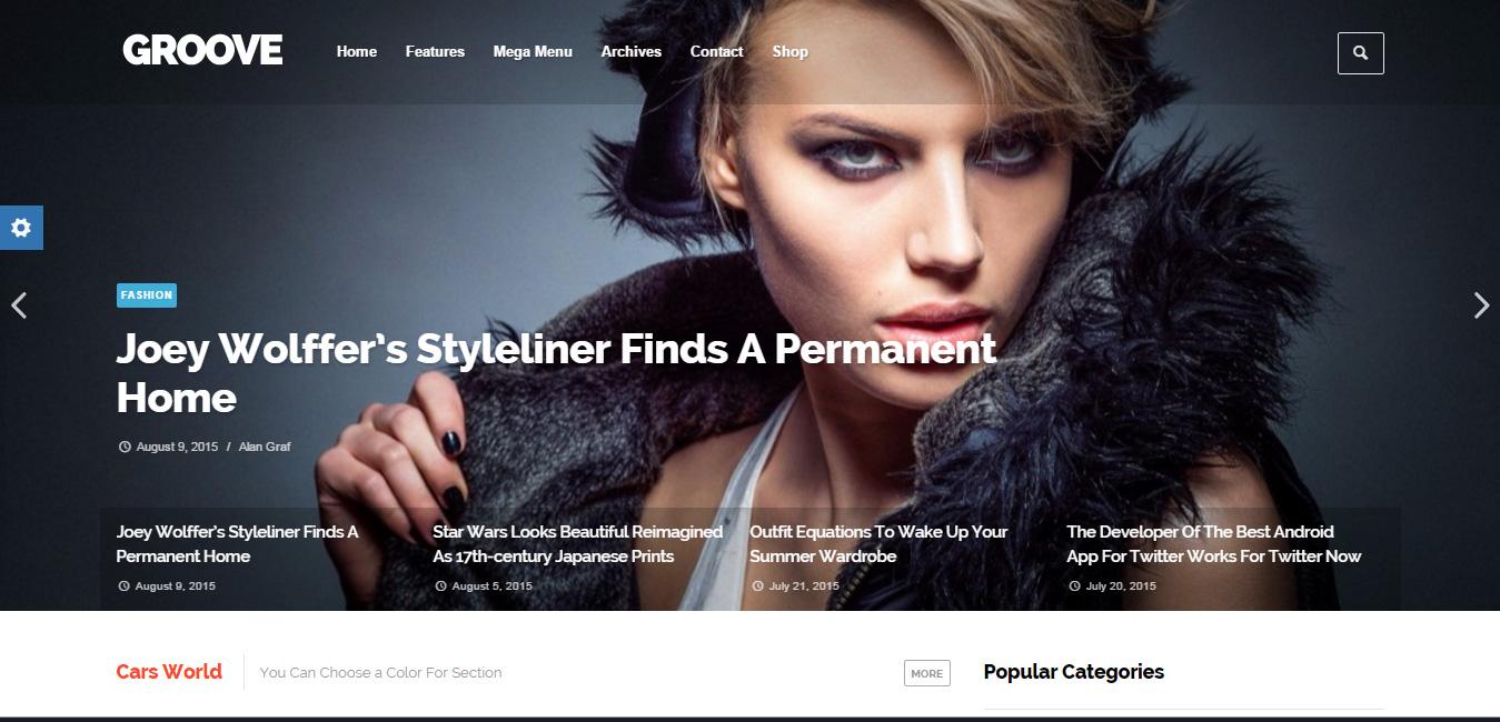 Groove - Clean & Modern Magazine WordPress Theme