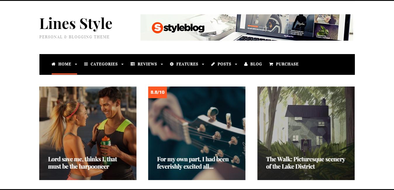 Lines - Elegant Personal, News WordPress Theme