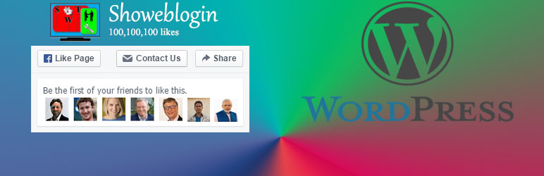 Showeblogin Facebook Page Plugin