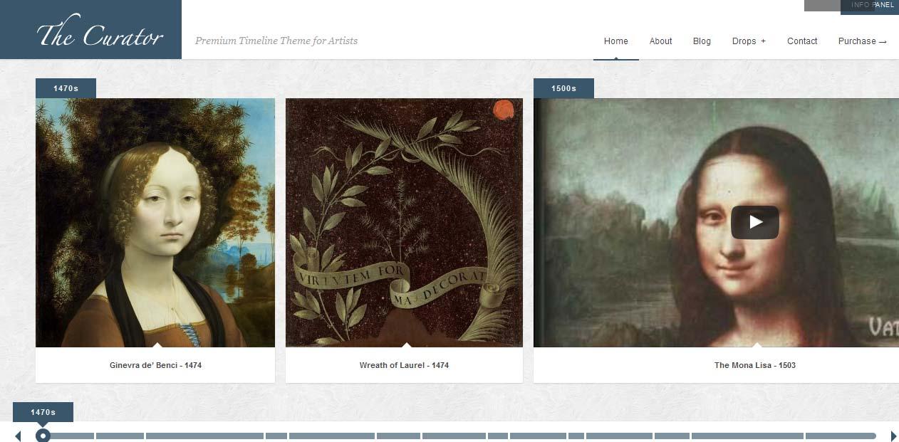 The Curator - WordPress Art Themes