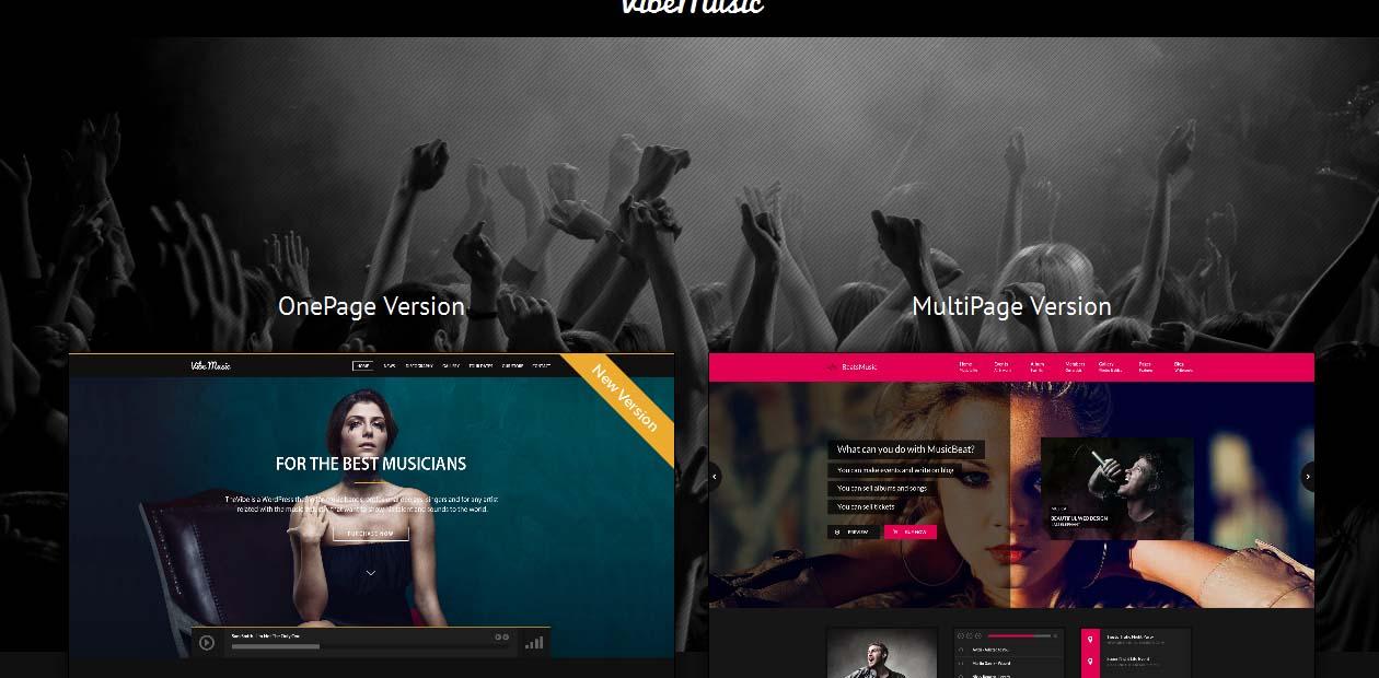 VibeMusic - WordPress Art Themes