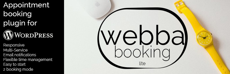 Webba Booking Lite - wordpress appointments plugins