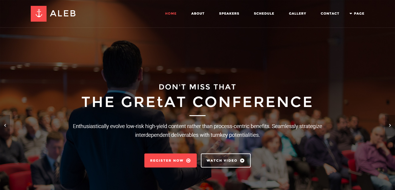 Aleb - Event & Conference WordPress Theme