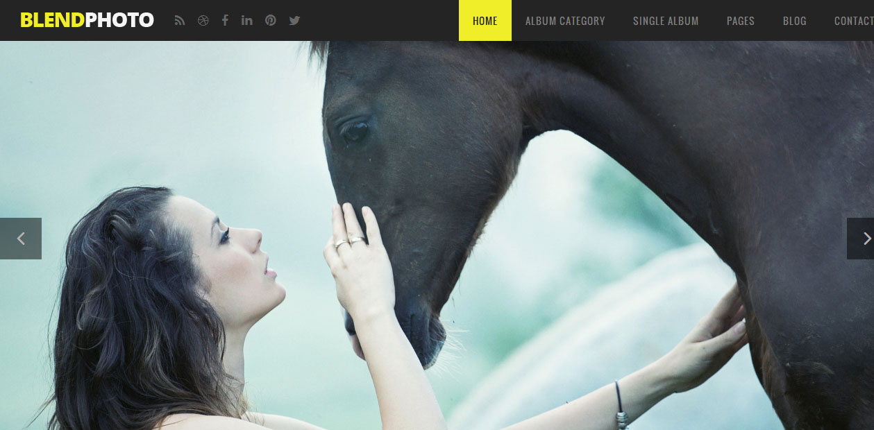 Blend - Full Screen WordPress Themes