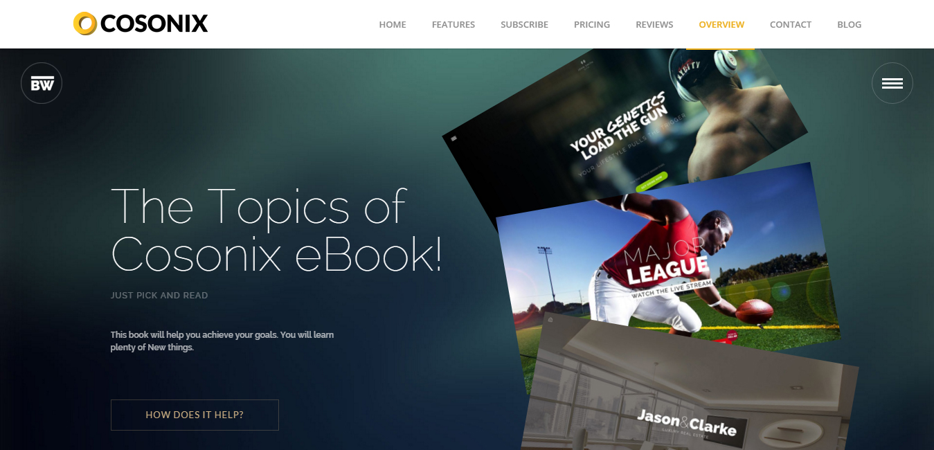 Cosonix - eBook, App, Agency and One Page Theme