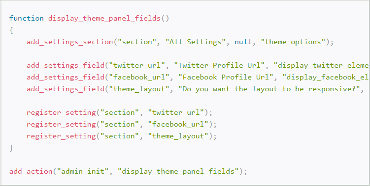 Create a WP Theme Settings Page with the Settings API