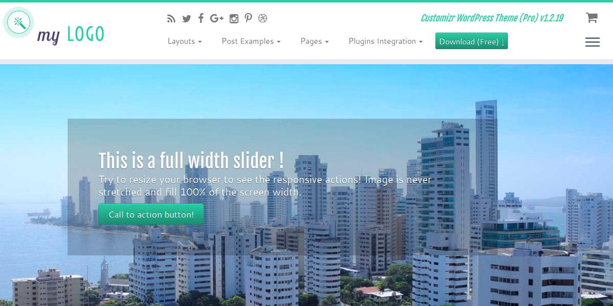 Customizr - Free WordPress Responsive Themes