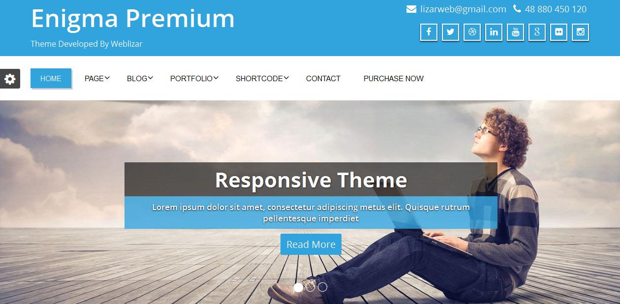 Enigma - Free WordPress Responsive Themes