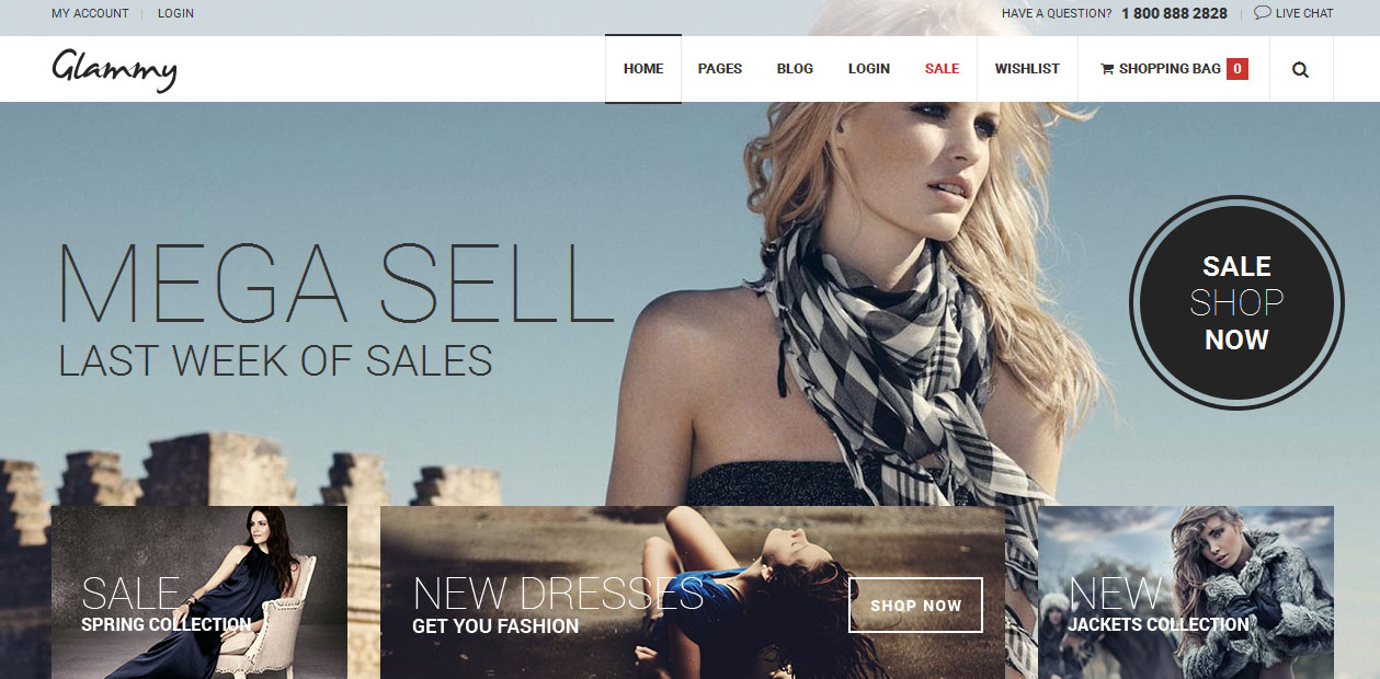 Glammy - WordPress eCommerce Themes