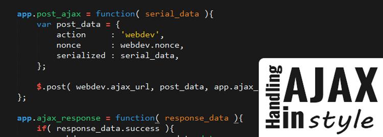 Handling AJAX in WordPress in Style