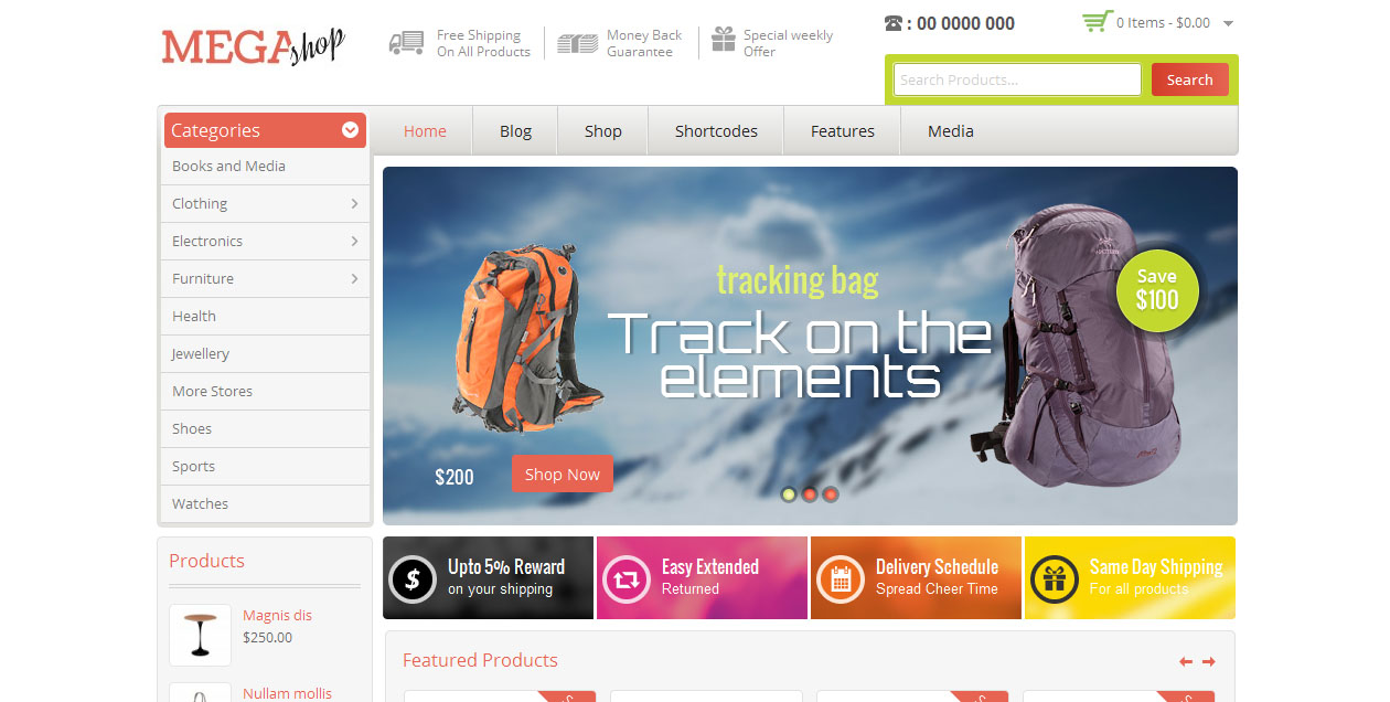Mega Shop - WordPress eCommerce themes