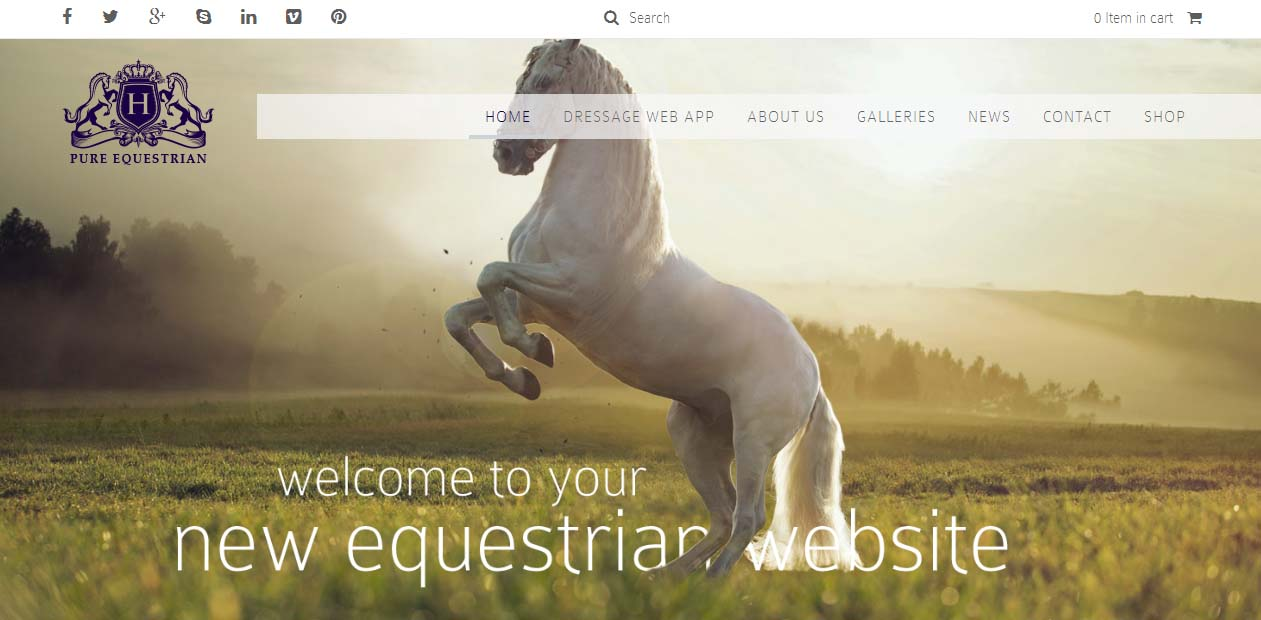 Pure Equestrian - Powerful Miscellaneous WordPress Themes