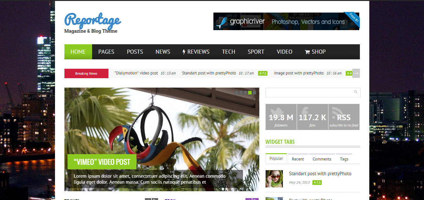 Reportage - Magazine & Blog Theme