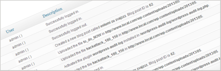 WP Security Audit Log Plugin - wordpress dashboard widgets