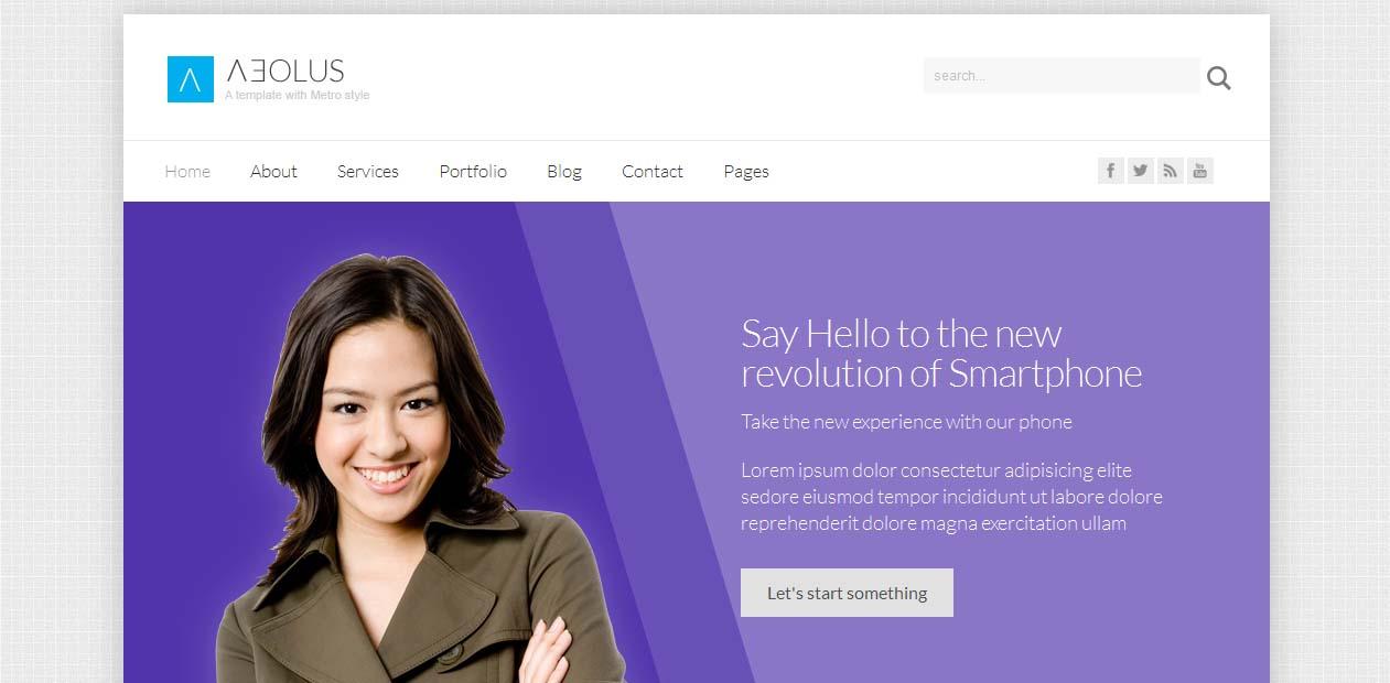 Aeolus - WordPress Metro Style Themes