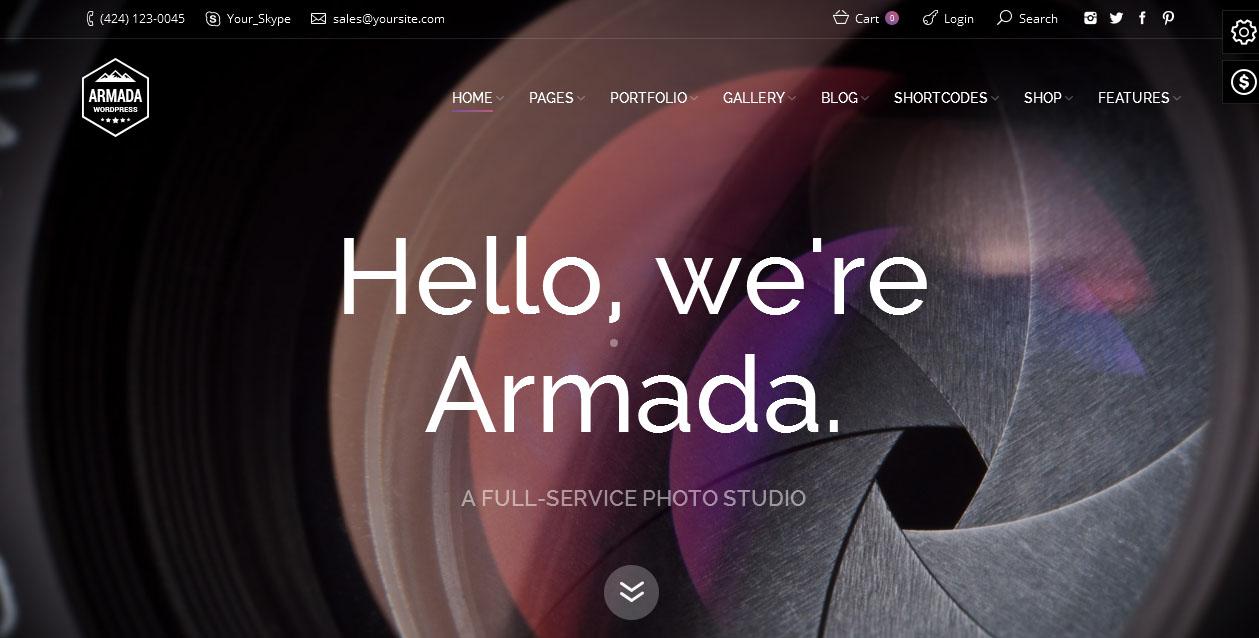 Armada - Best WordPress Photography Themes