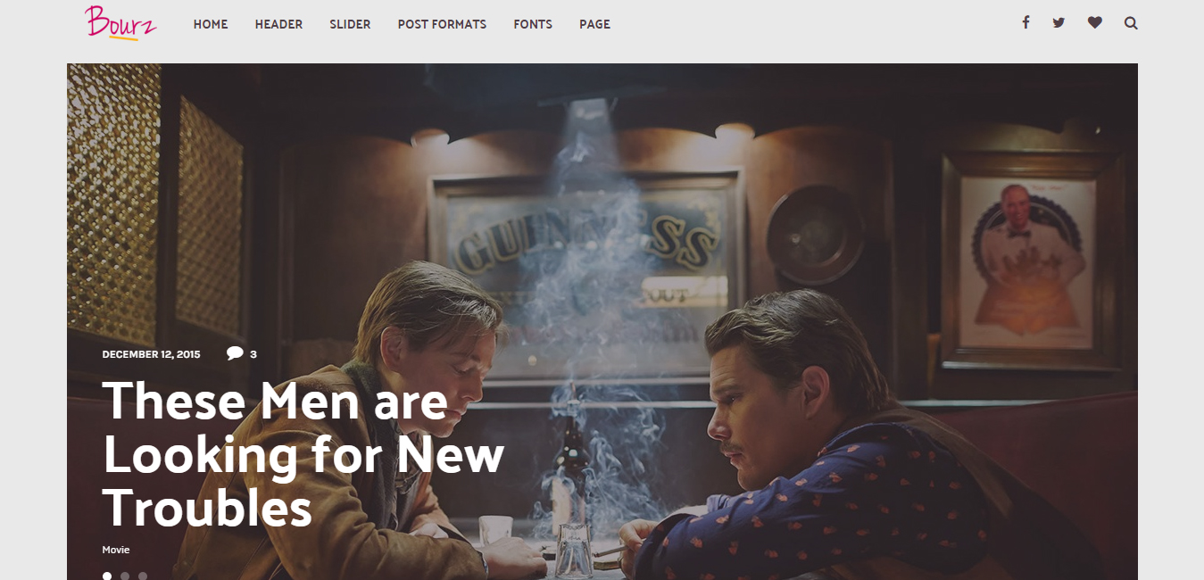 Bourz - Life, Entertainment and Fashion Blog Theme