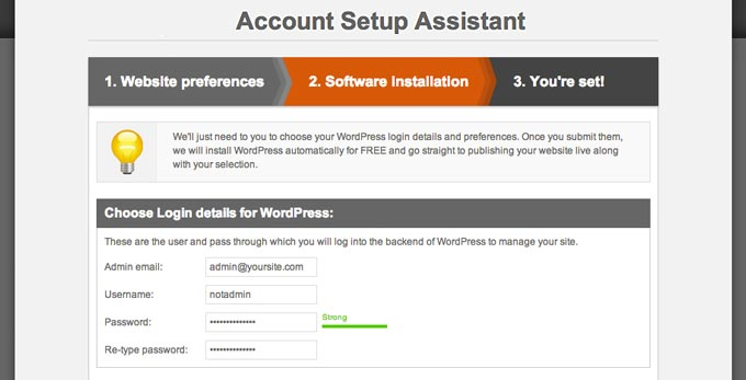 Create a WordPress Website in 3 Easy Steps