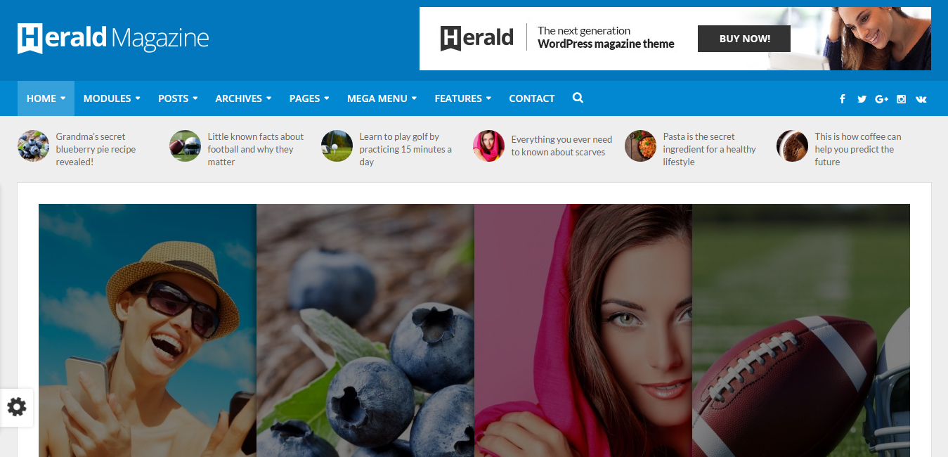 Herald - News Portal and Magazine WordPress Theme