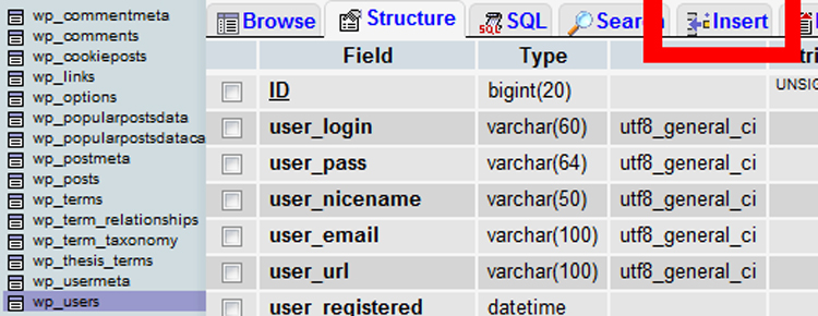 How to Add an Admin User to the WordPress Database via MySQL