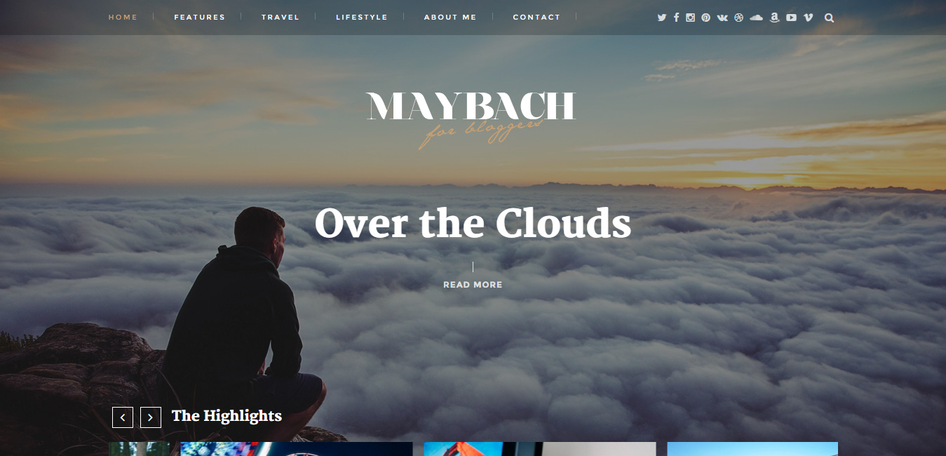 Maybach - Responsive WordPress Blog Theme