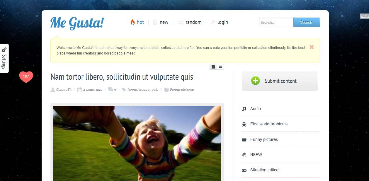 Me Gusta - WordPress Metro Style Themes