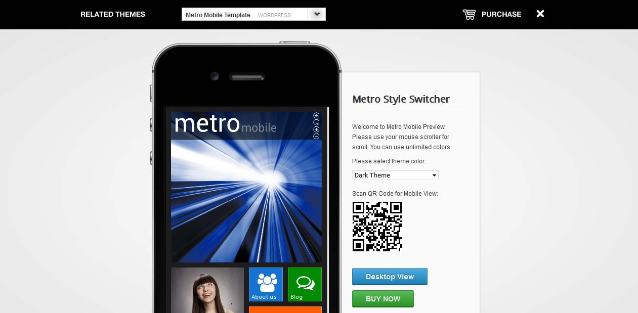 Metro Mobile - WordPress Metro Style Themes