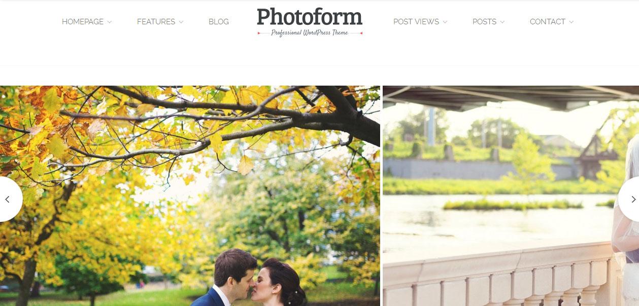 Photoform - WordPress Photography Themes