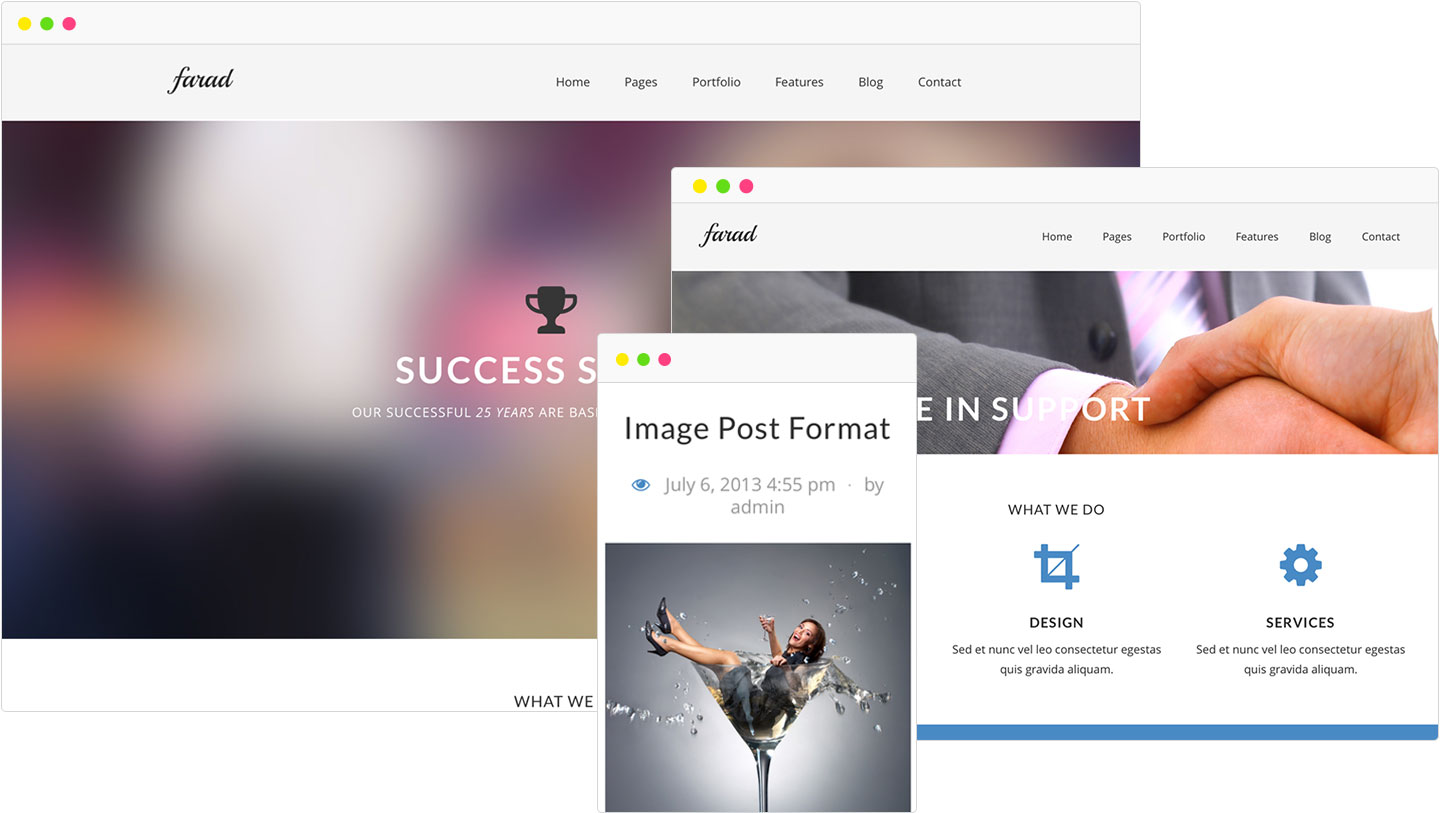 farad-multipurpose-wordpress-theme-showcase