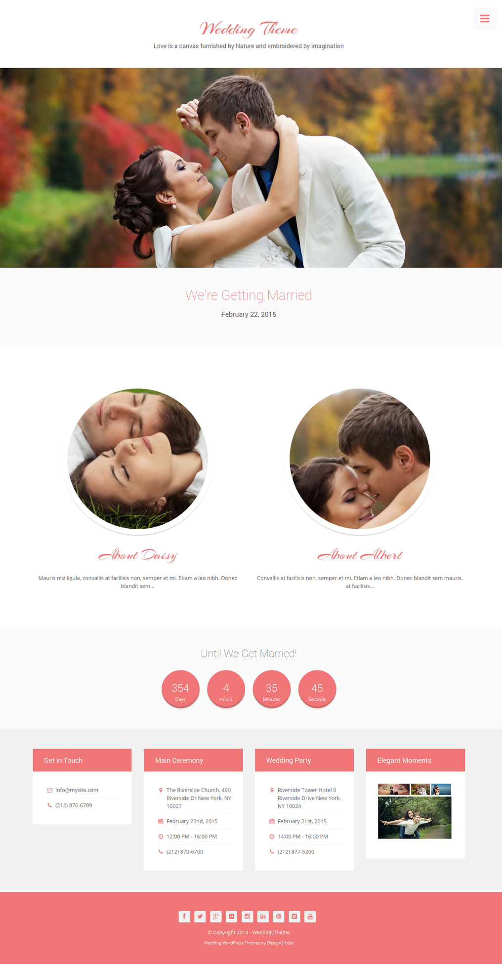 Wedding - Premium WordPress Theme - DesignOrbital