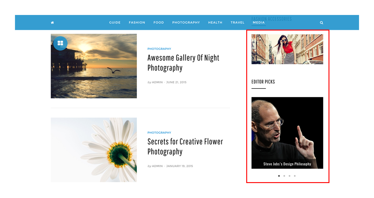 sticky-sidebar-crayon-wordpress-theme