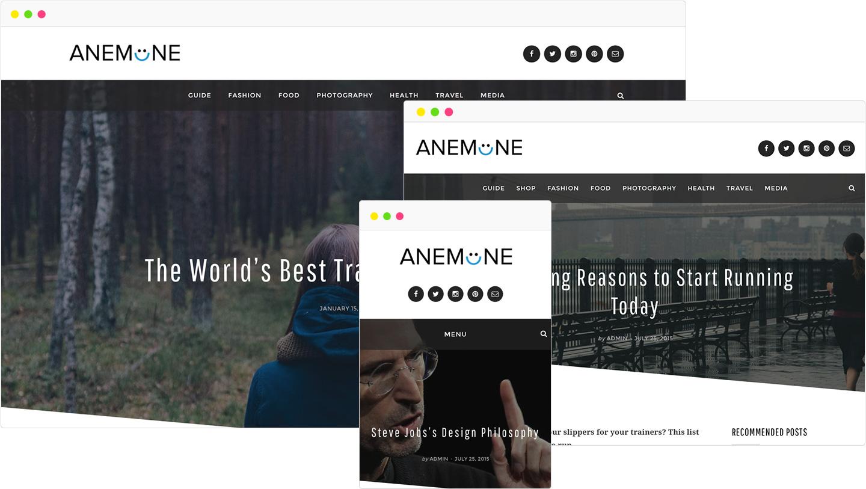 Anemone Magazine WordPress Theme