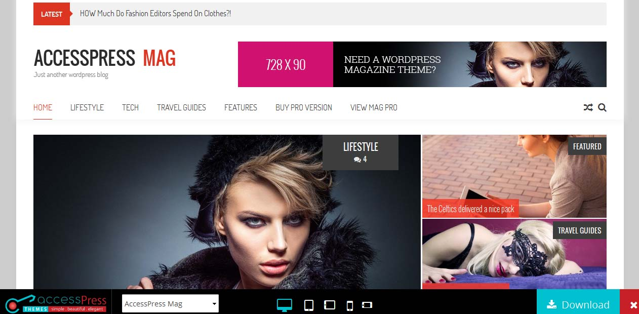 Accesspress Mag Free WordPress Themes For Magazines