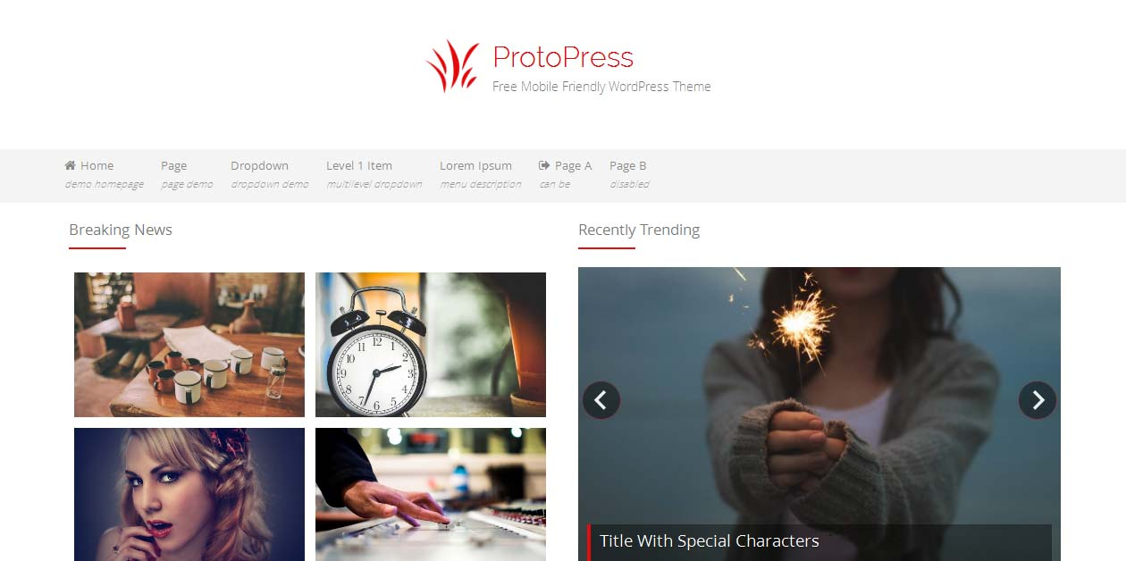 ProtoPress - Free WordPress Themes For Magazines