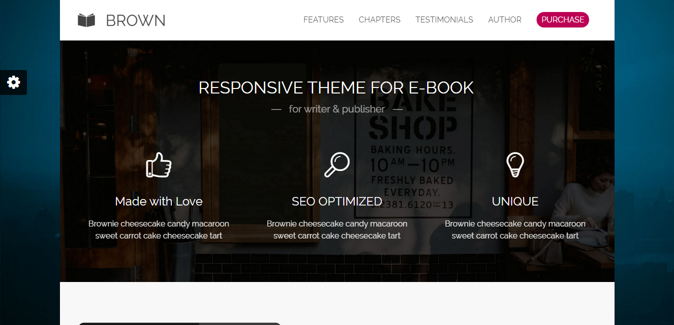 Brown - Responsive eBook WordPress Theme