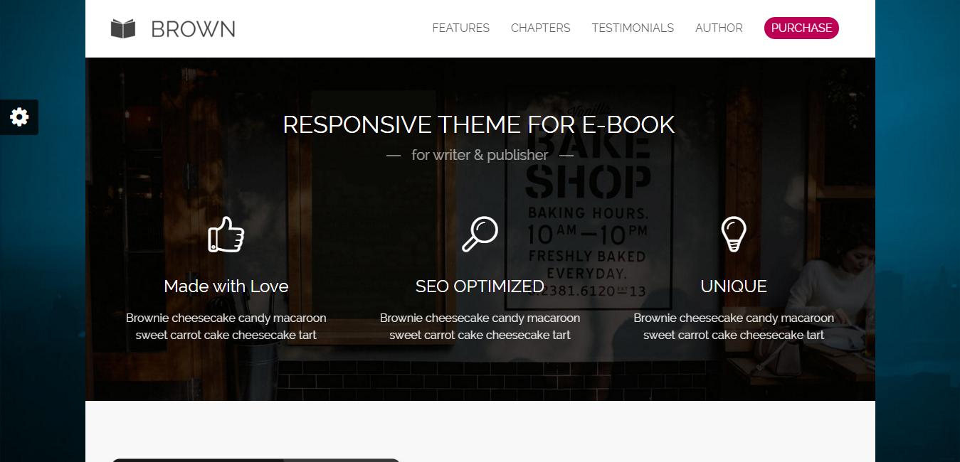 Brown - Responsive eBook WordPress Theme
