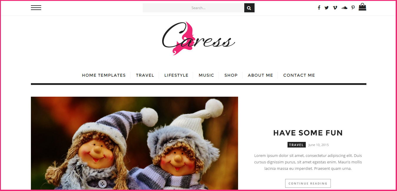 Caress - Comprehensive WordPress Blog Theme