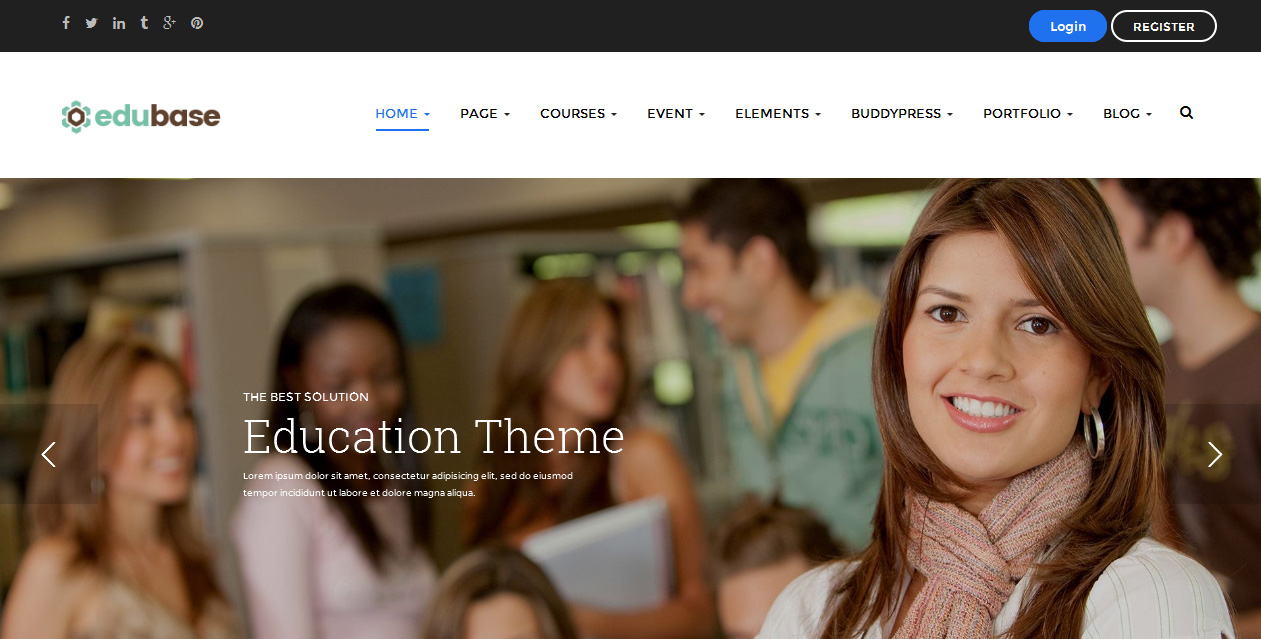 Edubase - Elegant WordPress Education Theme