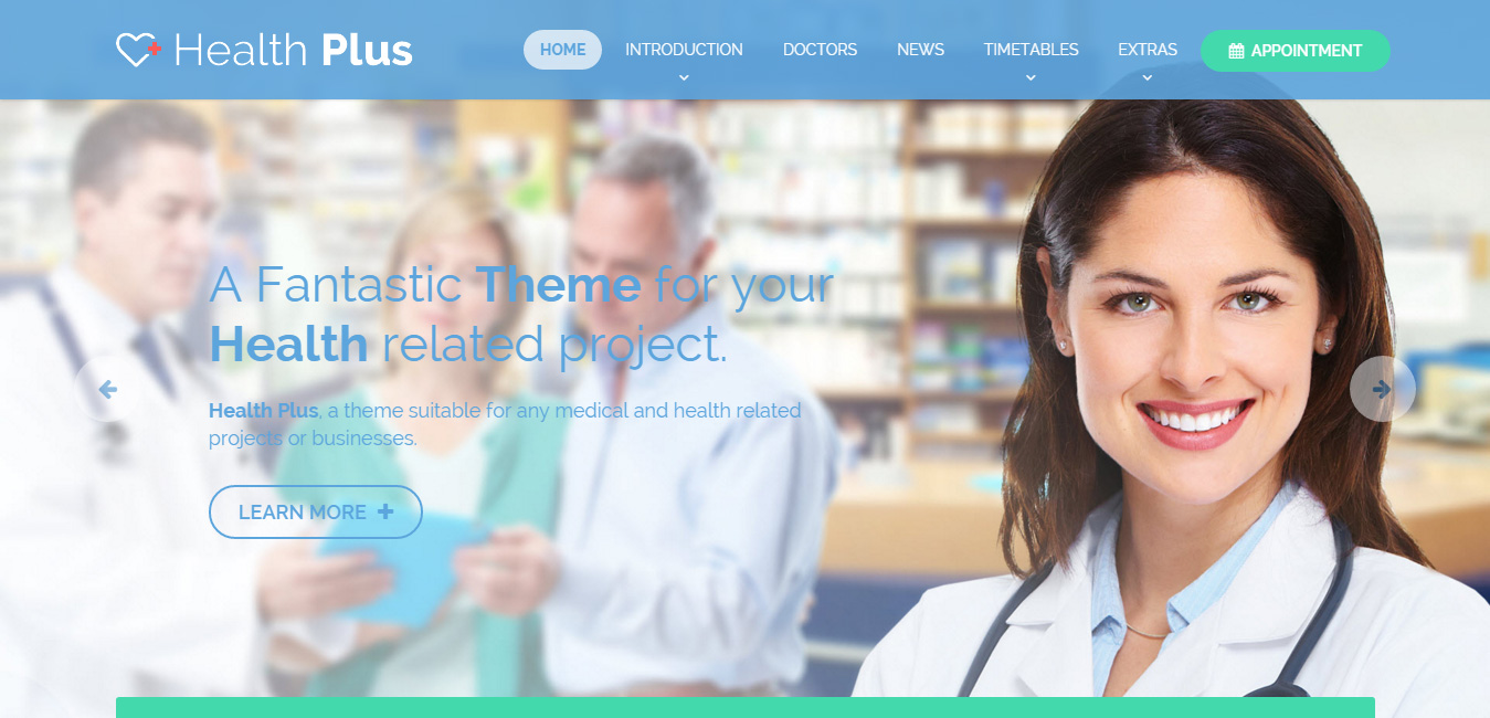 Health Plus - Health & Clinic WordPress Theme