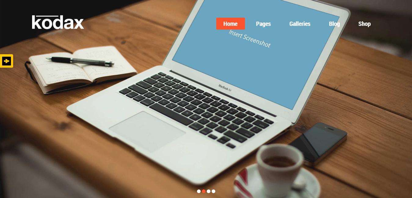 Kodax - Full Screen Landing Page WordPress Theme