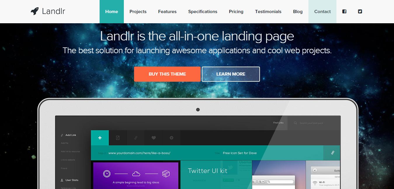 Landlr - Landing Page WordPress Theme