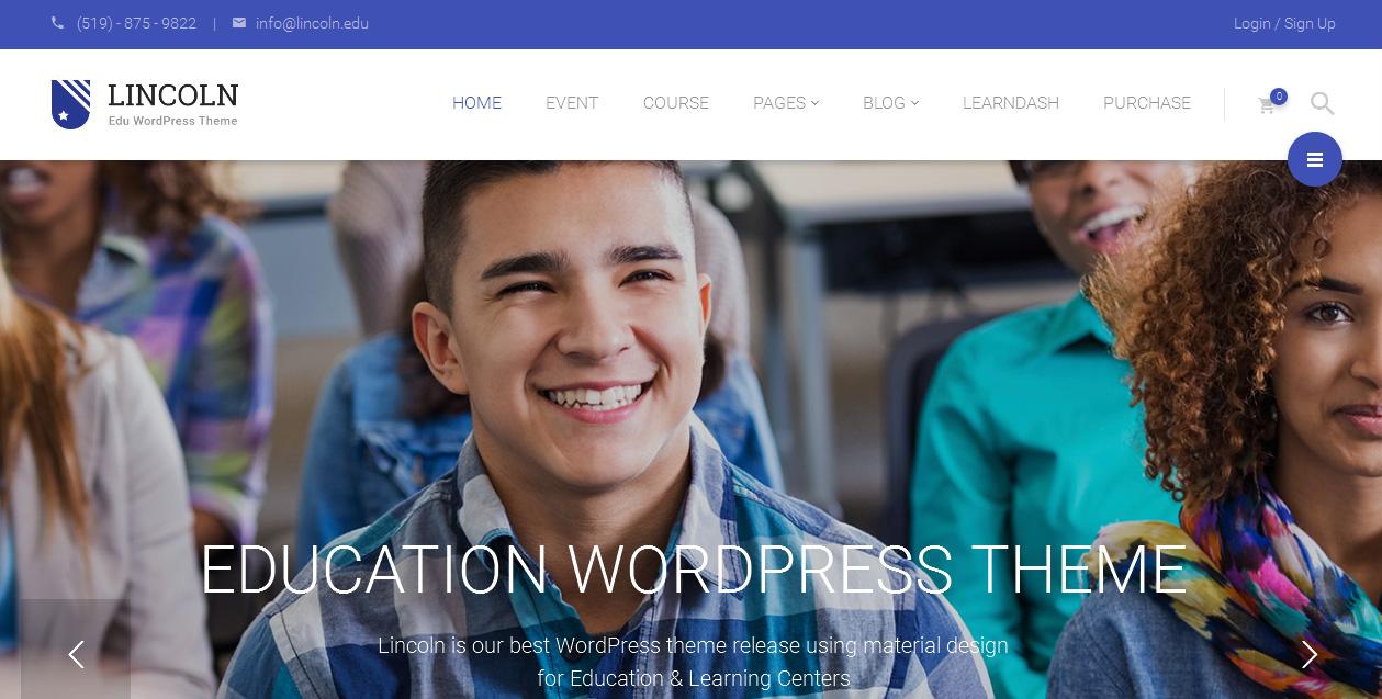 Lincoln - Beautiful Education WordPress Themes