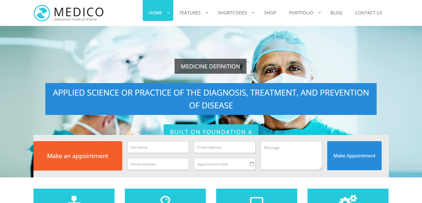 Medico - Pharmacy WordPress Themes