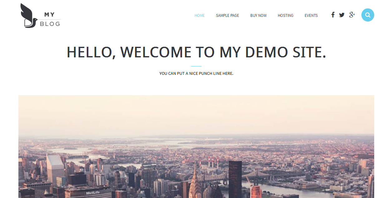 MyBlog - Minimalist Themes for WordPress